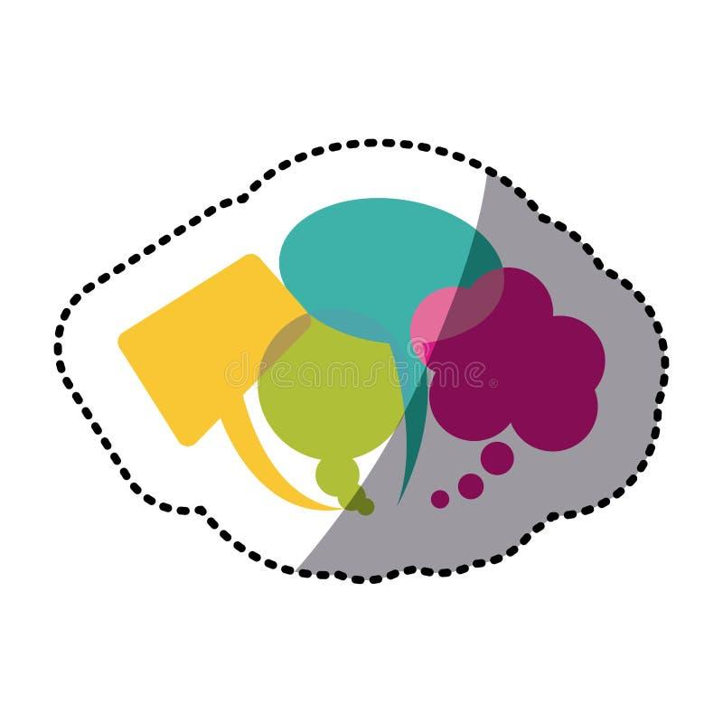 типы цвета болтовни клокочут значок бесплатная иллюстрация