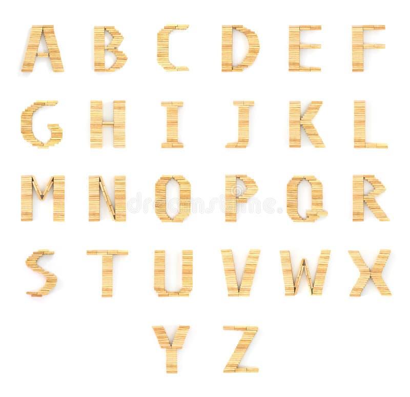 Тип блоки домино алфавита деревянный на белизне стоковое изображение