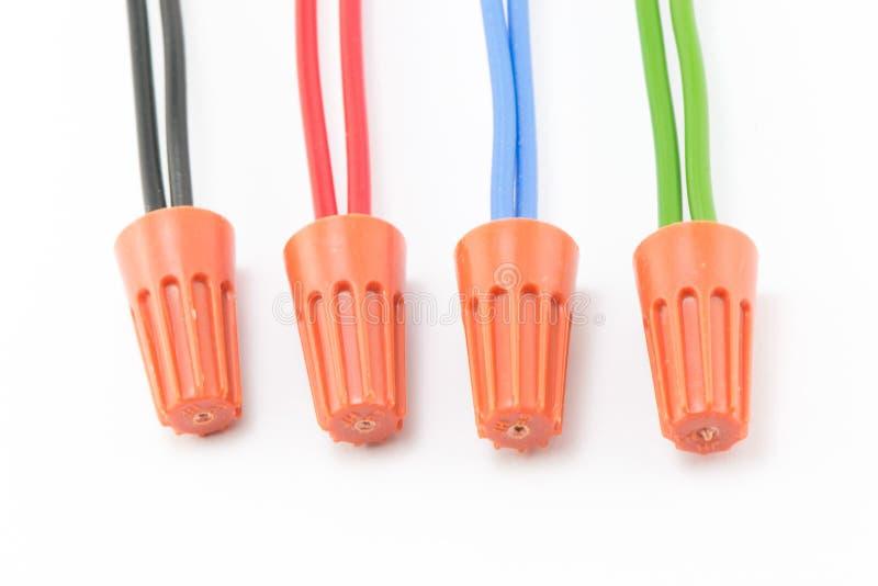 Тип гайки провода соединителей стоковые фотографии rf
