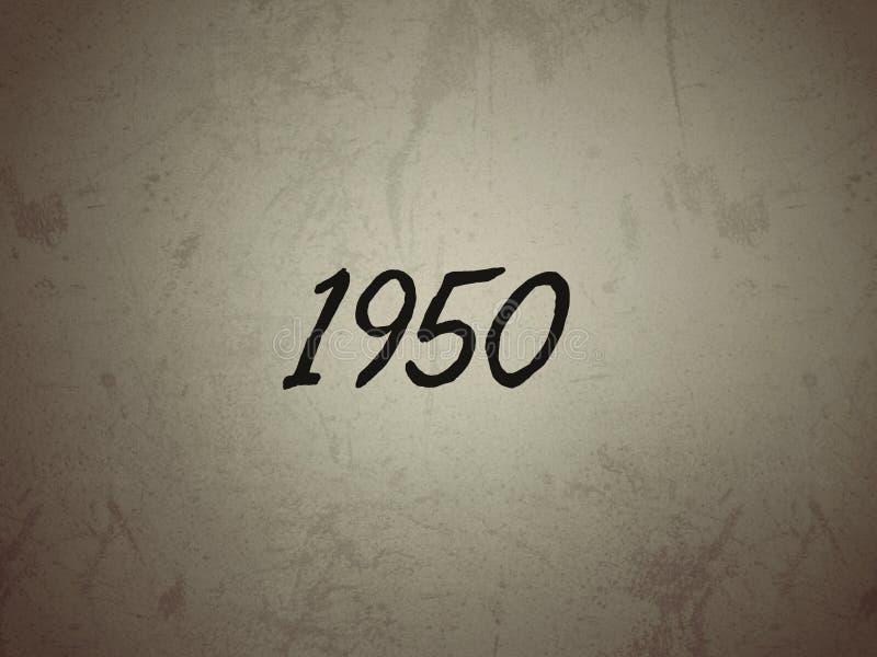 Тип года 1950 на винтажной предпосылке стоковая фотография rf