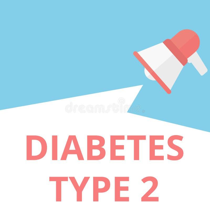 Тип 2 диабета текста сочинительства слова иллюстрация штока