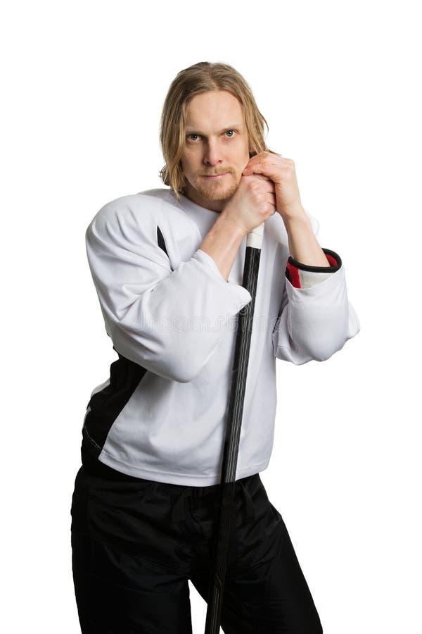 тип игрока хоккея графиков пожара конструкции компьютера 2d backgroound черный стоковые фото