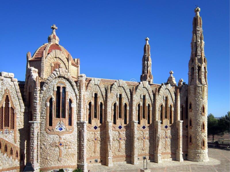 тип Испании novelda gaudi церков стоковые изображения