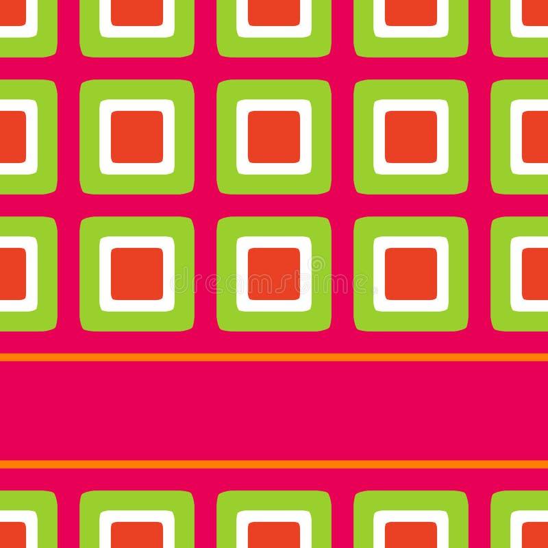 тип квадратов семидесятых годы конструкции ретро иллюстрация вектора