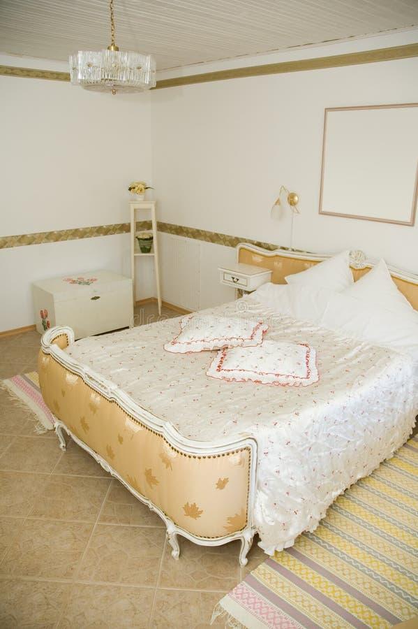 тип комнаты гостиницы ретро стоковое изображение