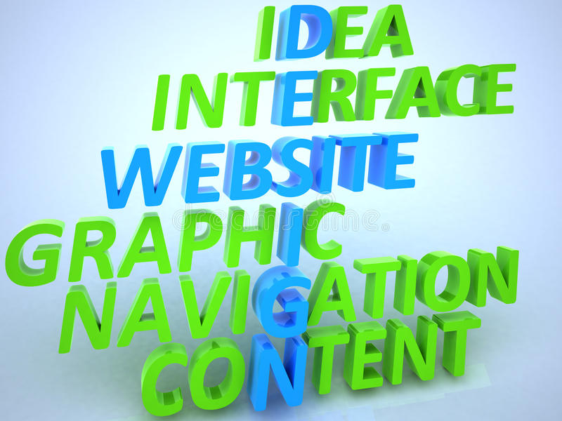 Тип конструкции вебсайта иллюстрация вектора
