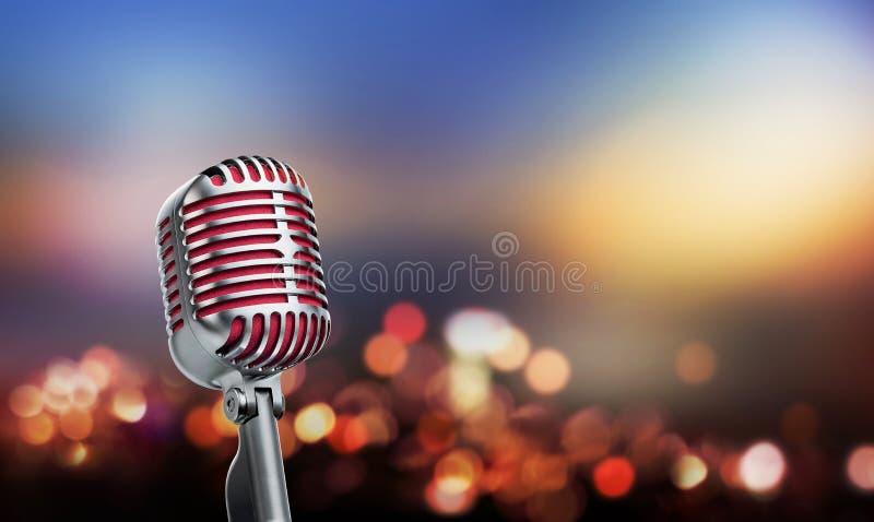 тип микрофона ретро стоковые фотографии rf