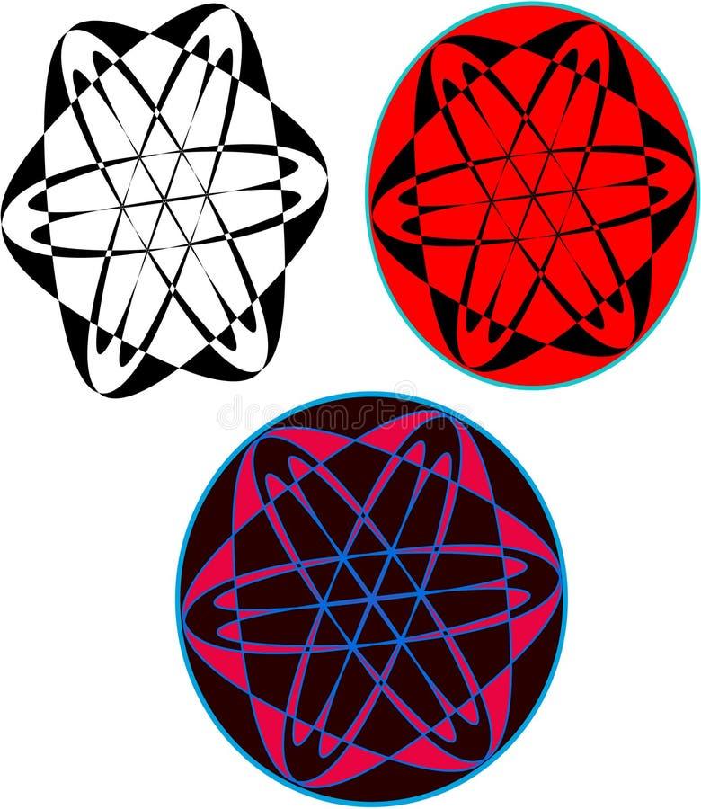 Тип логотип глобуса иллюстрация вектора