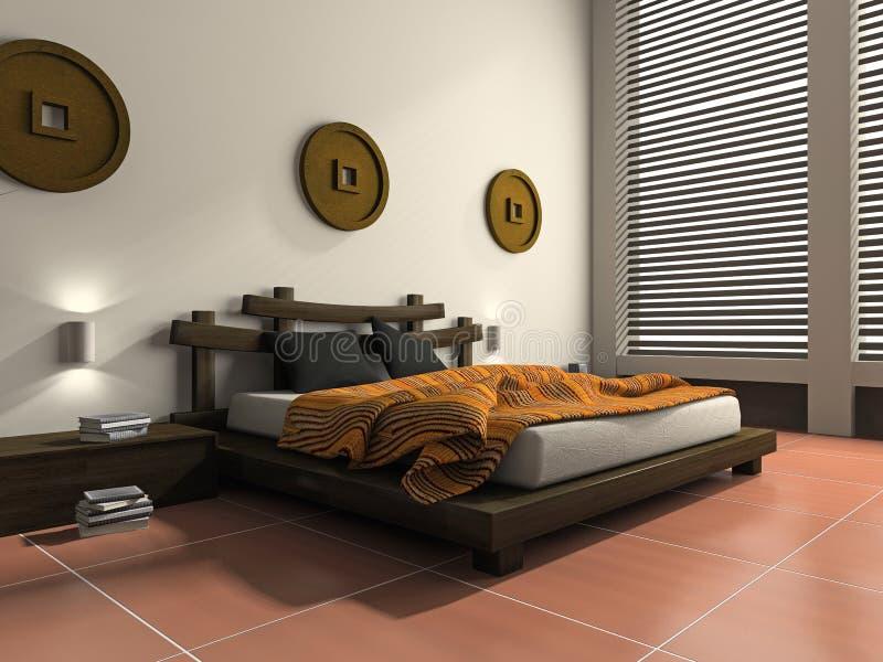 тип спальни этнический самомоднейший иллюстрация вектора