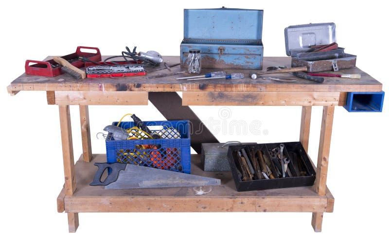 Тип стенд подземелья человека работы при изолированные инструменты, стоковые изображения