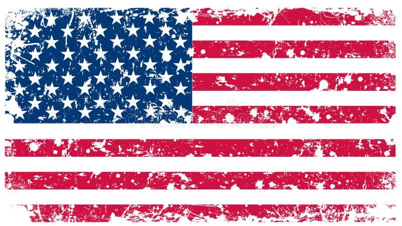 тип США иллюстрации флага ретро стоковое фото rf