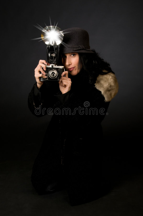тип фотографа ретро стоковая фотография