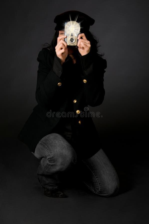 тип фотографа ретро стоковая фотография rf