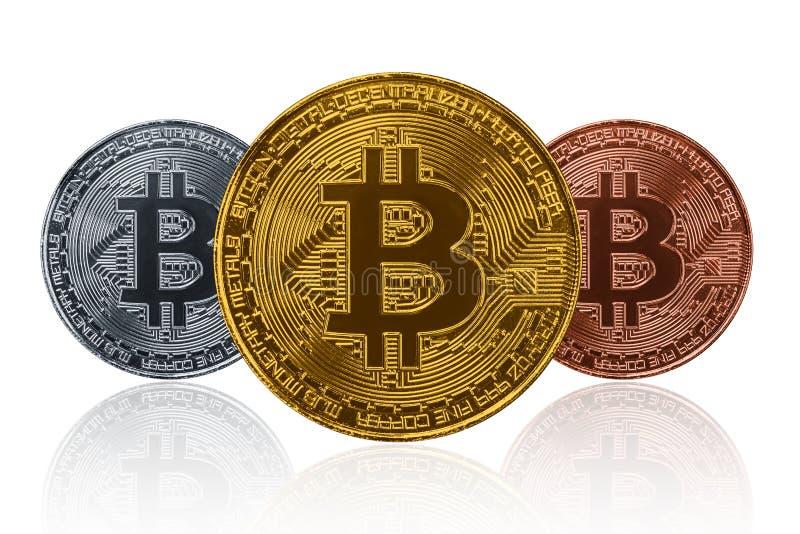 Тип 3 Bitcoin изолировал на белизне стоковая фотография rf