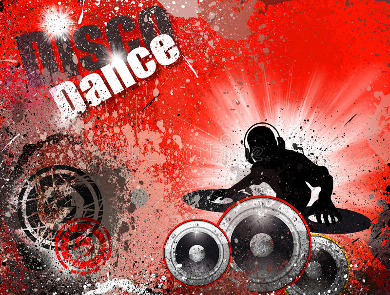 тип grunge рогульки dj диско предпосылки бесплатная иллюстрация
