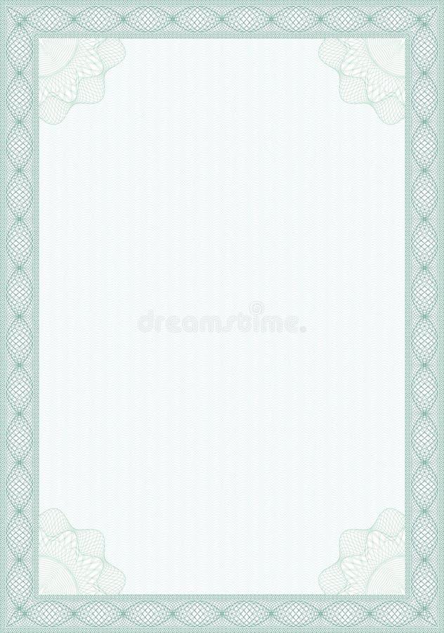 тип guilloche формы диплома сертификата иллюстрация штока