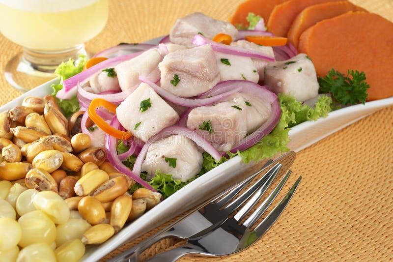 тип peruvian ceviche стоковые фото