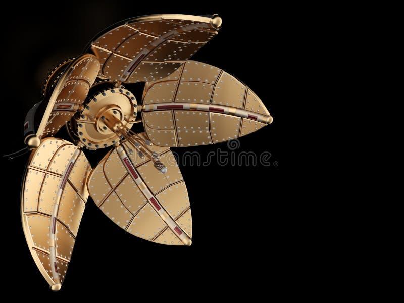 тип steampunk цветка механически иллюстрация вектора
