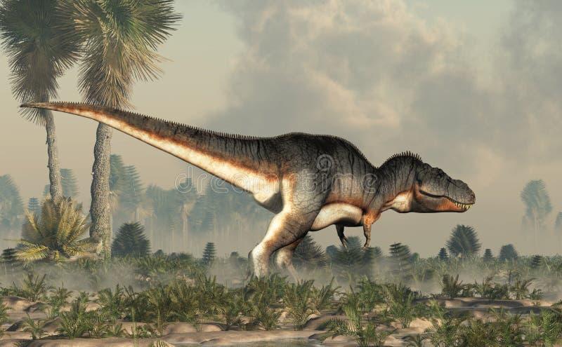 Тиранозавр Rex в заболоченном месте бесплатная иллюстрация