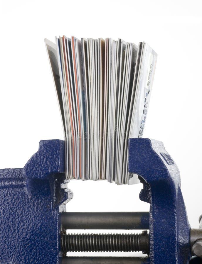 тиски кредита карточек стоковое изображение rf