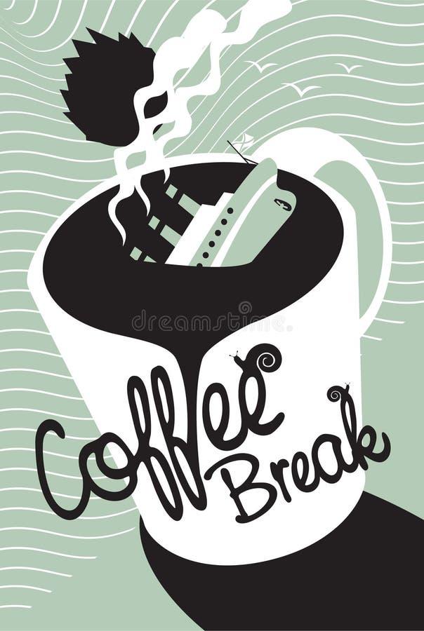 Титанический кофе иллюстрация вектора