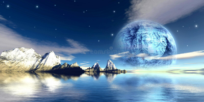 титан луны иллюстрация вектора