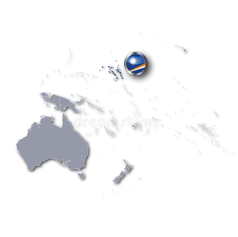 Тихий океан с Маршалловыми Островами бесплатная иллюстрация