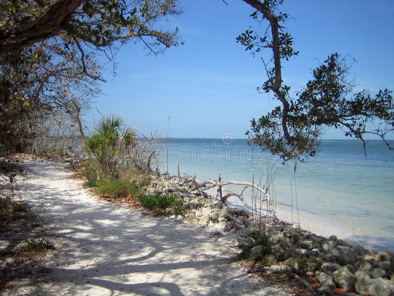 Тихий пляж Флориды стоковые изображения