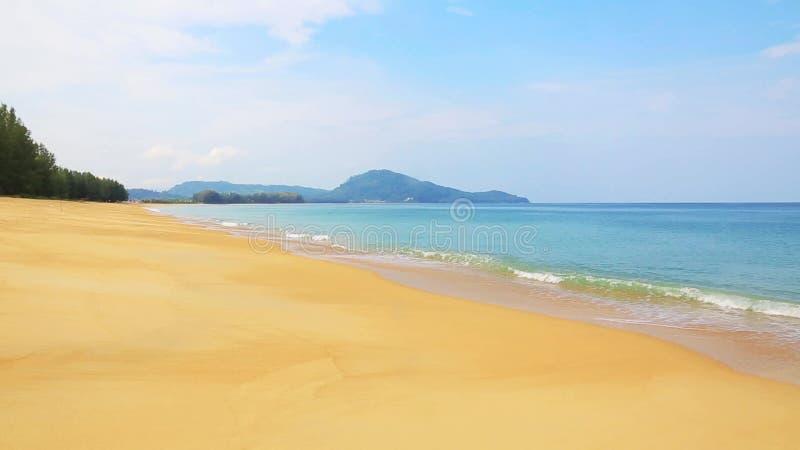 Тихий тропический прибой пляжа сток-видео