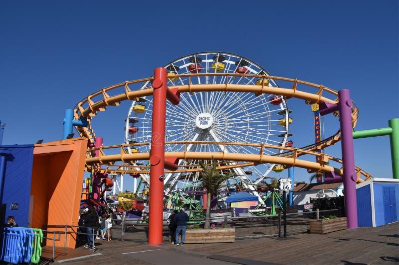 Тихое океан колесо Ferris парка стоковое изображение