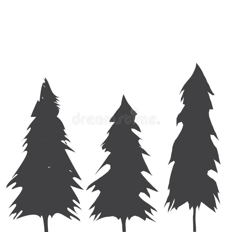 Тихое океан северо-западное дерево вечнозелёного растения старого роста иллюстрация вектора