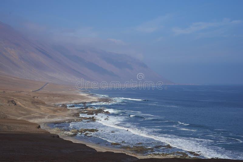 Тихоокеанское побережье Чили стоковое фото