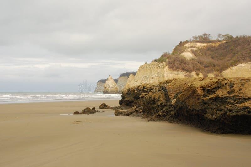Тихоокеанское побережье эквадор стоковое изображение