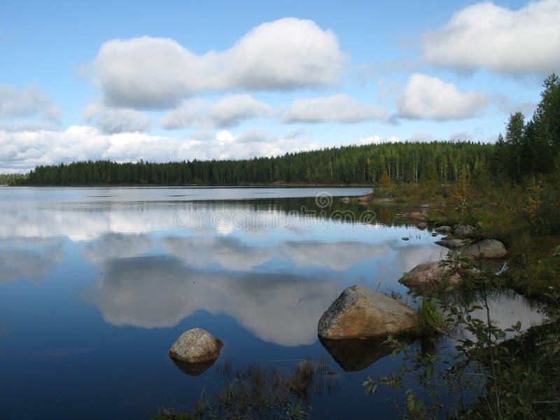 тишь озера стоковое фото