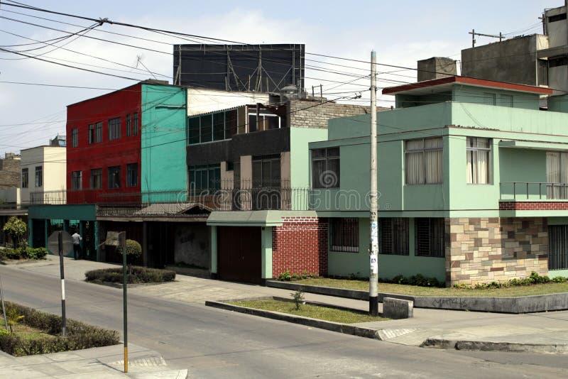 тишь lima Перу дома стоковая фотография