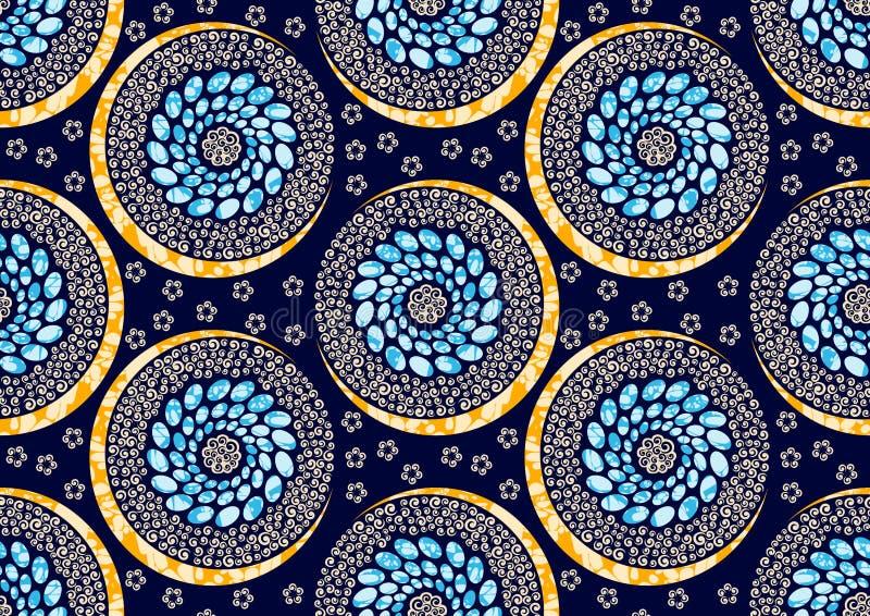 Ткани печати моды ткани воск африканской супер иллюстрация вектора