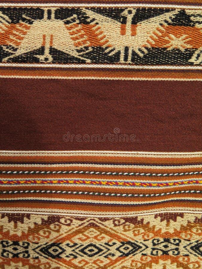Ткани Южной Америки индийские сплетенные стоковая фотография rf