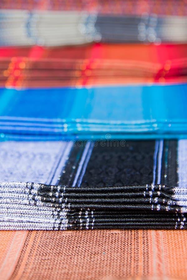Ткани Ecuadorian традиционные, рынок Otavalo стоковое изображение