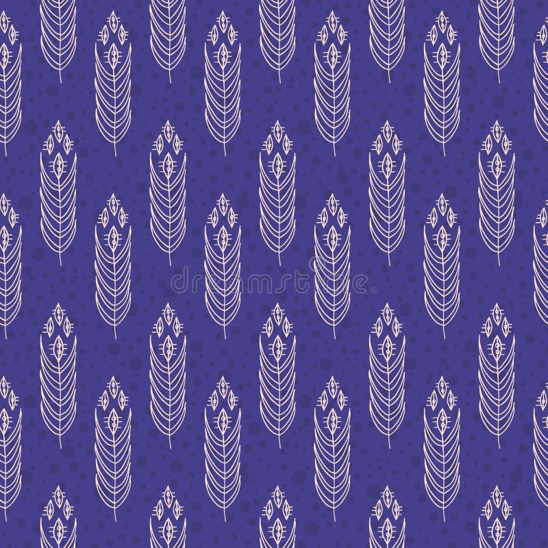 Тканье год сбора винограда флористическое, безшовное spattern иллюстрация вектора