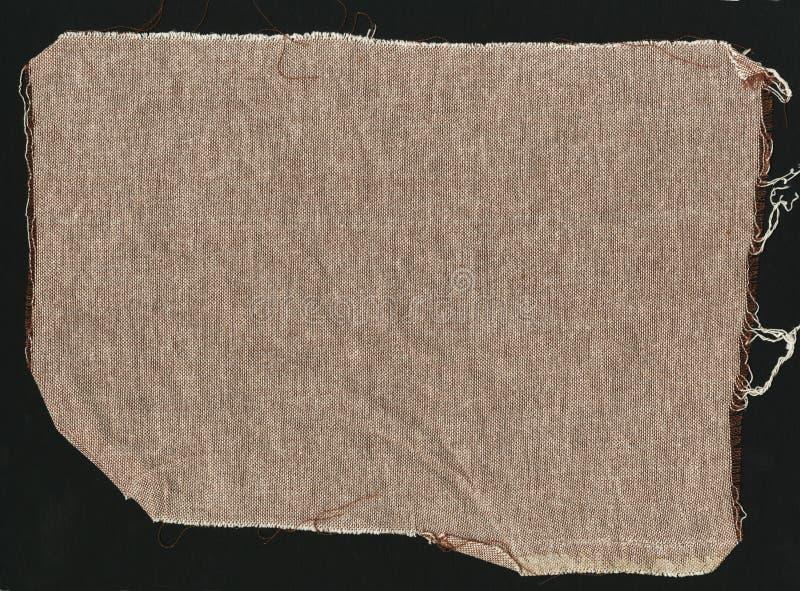 Ткань Брайна естественная простая грубая linen - холст Текстура предпосылки ткани мешковины Брайна стоковое изображение