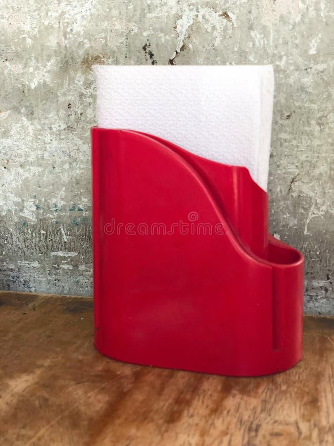 Ткань в красной коробке стоковое фото