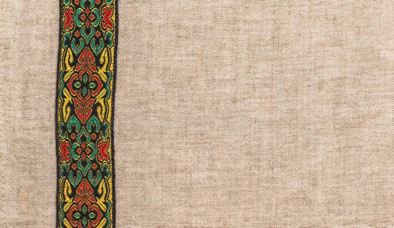 Ткань грубое белье, с покрашенным вертикальным диапазоном стоковые изображения