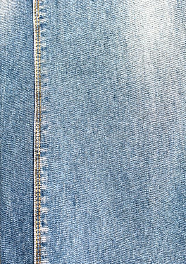Ткань джинсовой ткани голубая для низкопробного продукта стоковая фотография