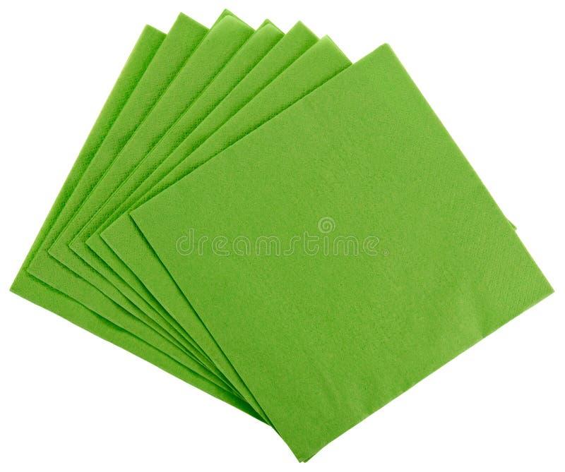 ткань квадрата serviette зеленой бумаги стоковые фото