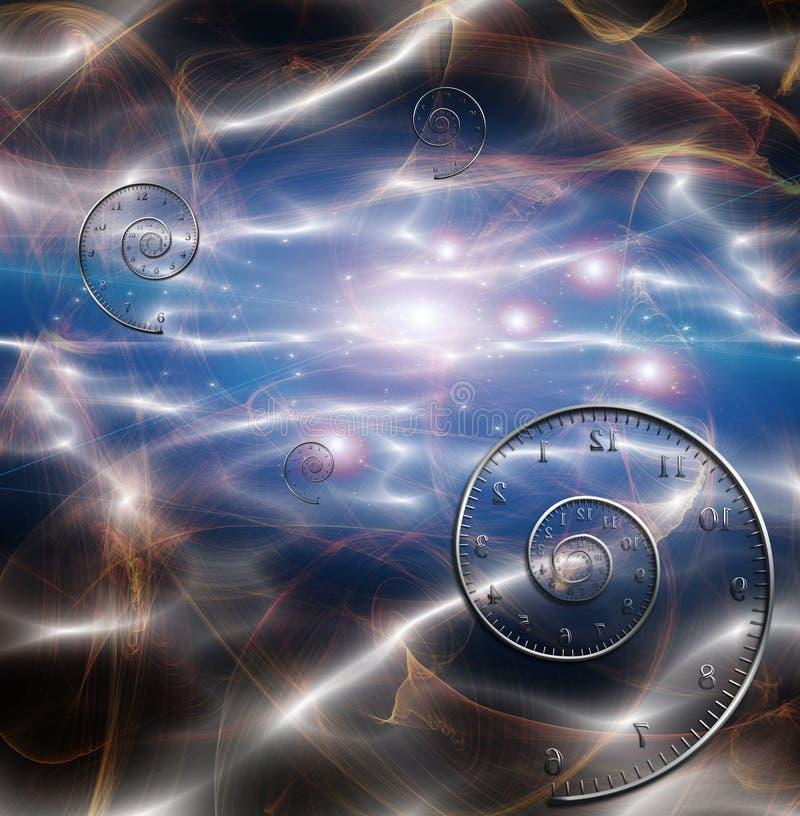 Ткань космоса времени иллюстрация штока
