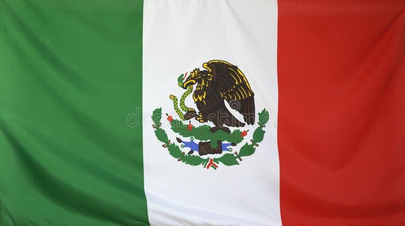 Ткань мексиканського флага реальная стоковое фото rf