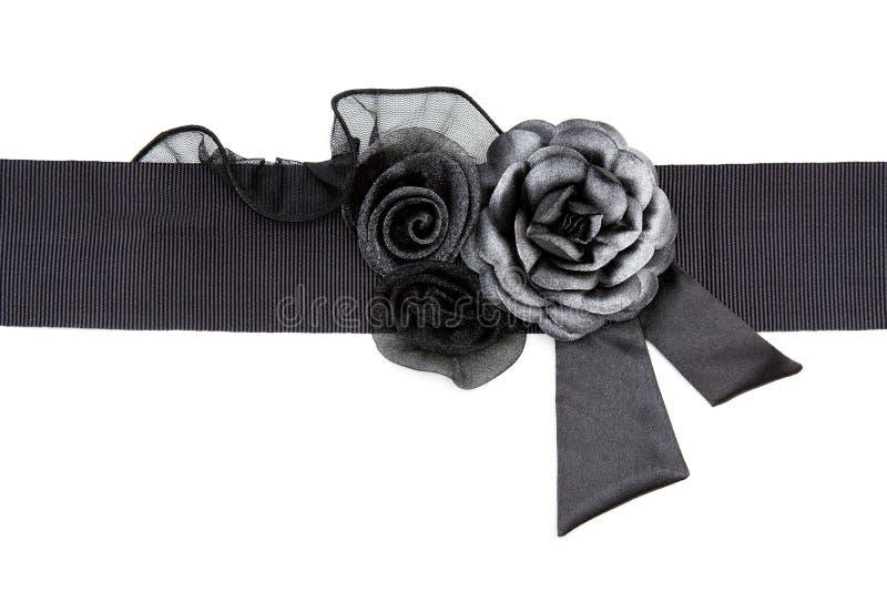 ткань пояса черная подняла стоковая фотография rf