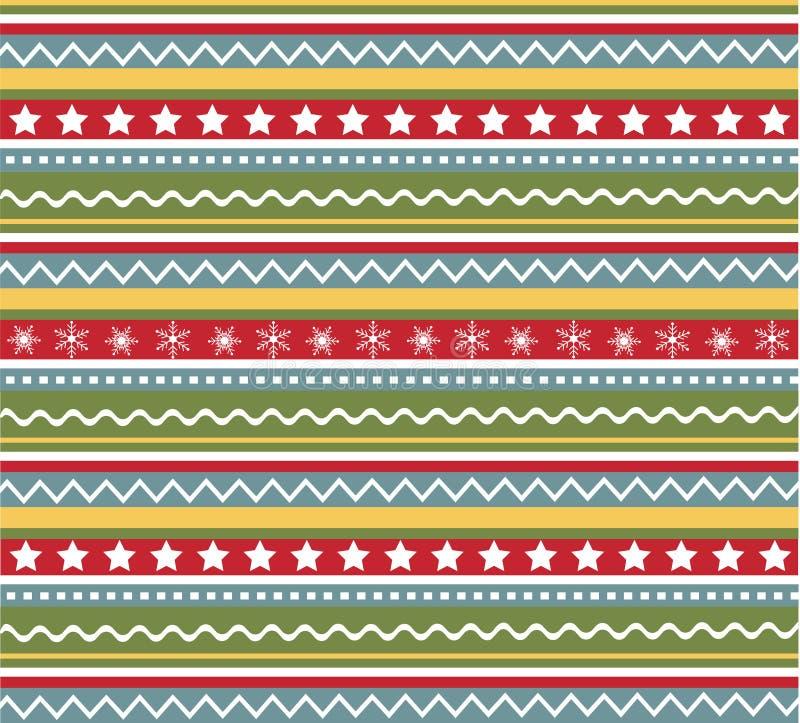ткань рождества делает по образцу безшовную текстуру иллюстрация вектора
