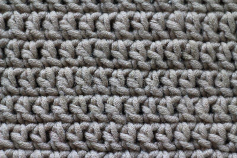 Ткань, связанная от пряжи, конец-вверх, стоковое фото