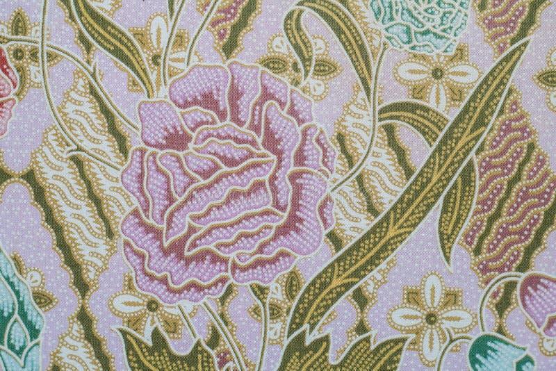 Ткань с текстурой и предпосылкой картины цветка стоковая фотография